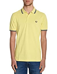 Fred Perry Homme FPM360021E13 Jaune Coton Polo