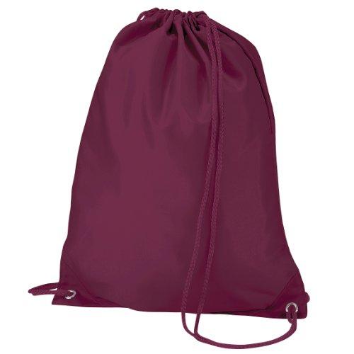 Imagen de quadra   saco o de cuerdas impermeable/resistente al agua modelo gymsac deporte/gimnasio 7 litros  talla única/vino