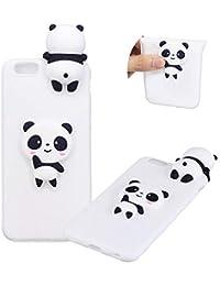 TPU Hülle für iPhone 6S,Weich Silikon Hülle für iPhone 6,Moiky Komisch 3D Weiß Panda Entwurf Ultra Dünnen Scratch Resistant Soft Rückseite Abdeckung Handyhülle