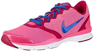 Nike In-Season Tr 4, Chaussures de sports extérieurs femme - Rose (Black/Cl Gry-Fchs Frc-Hypr Pnk), 36 EU