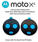 The Retailer Rear Camera Lens Glass with Adhesive Compatible with Moto X4 : Black