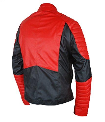 F&H Men's Red Lantern Guy Gardner Cafe Racer Jacket Multicoloured
