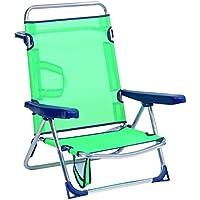 Alco - Silla Cama Playa Aluminio Fibreline Color Azul Turquesa (30 1-607AZ)