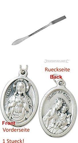Stukkateureisen, 230 mm, Gipsereisen, Gipserspachtel mit einem Anhänger Herz Jesu 2,5cm