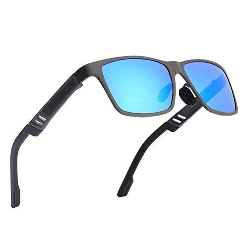 CGID GD60 Occhiali da Sole Classici Lega Al-Mg Stile Wayfarer Lenti Polarizzate UV400,Occhiali da Sole (Vetro Occhiali)
