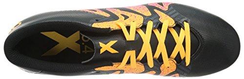 adidas X 15.4 Fxg, Chaussures de  Football Compétition homme Schwarz (Core Black/Shock Pink/Solar Gold)