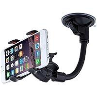 URPOWER Auto Handyhalterung Universal KFZ Halterung für Smartphone, Windschutzscheibe Long Arm 360 Grad Umdrehbar für iPhone 7 / 6S / SE / 6 / 5S, Sam