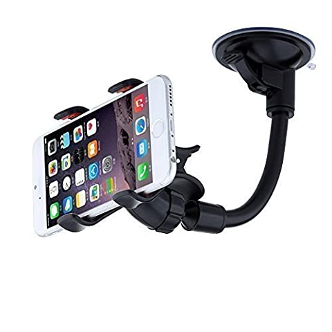 URPOWER Auto Handyhalterung Universal KFZ Halterung für Smartphone, Windschutzscheibe Long Arm 360 Grad Umdrehbar für iPhone 7 / 6S / SE / 6 / 5S, Samsung Galaxy, Sony, HTC usw