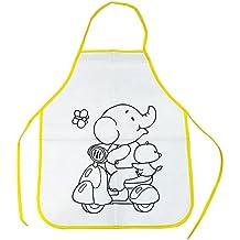 Starplast 131589 Pack de 2 Delantales Infantiles con Dibujo de Animales, para Colorear, Incluye