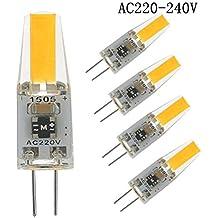 HGHC Bombilla g4 led 220v, 2W Equivalente a 20W Halógeno, Blanco Cálido 2700K 200LM