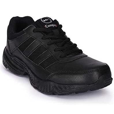 Campus Boy's Action Black School Shoes Laces (2)