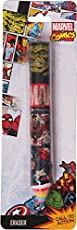 Disney & Marvel HMI Disney and Marvel Avengers Pencil Shaped Collectible Erasers, Non Dust, Non-Toxic (Multicolour, HMGWER) - Set of 3