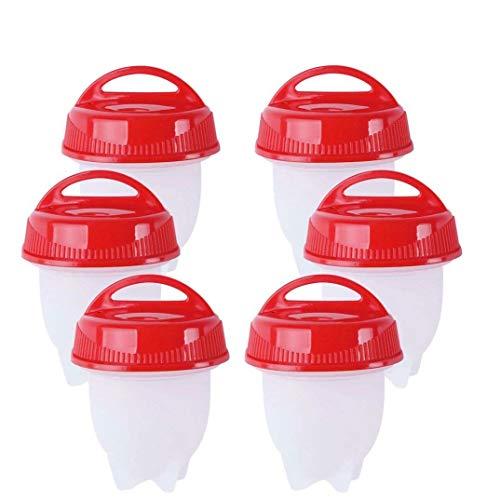Muttertags-Geschenk, Eierkocher, Silikon, harte und weiche Eier, keine Schale, antihaftbeschichtetes Silikon, BPA-frei, Eierkocher, Eierbecher, Eierkocher