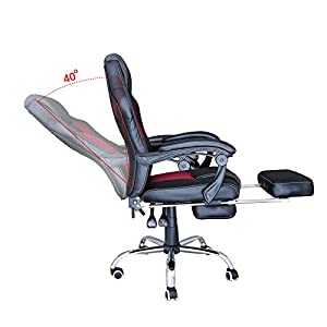 41kp%2BIGlQmL. SS300  - huigou-HG-Silla-Giratoria-De-Oficina-Gaming-Chair-Apoyabrazos-Acolchados-Premium-Comfort-Silla-Racing-Capacidad-De-Carga-200-Kg-Altura-Ajustable-NegroRojo