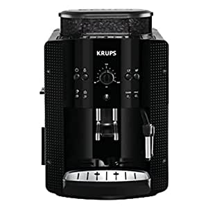Krups Automatic Espresso Machine YY8125FD Beans Coffee Grinder with Manual Pressure 15 Bars Black