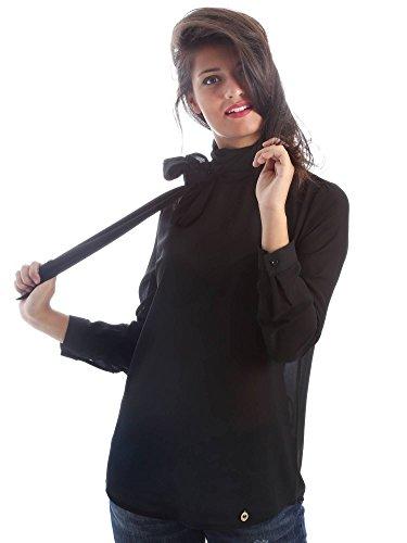 Animagemella 17AI026 Camicia Donna Nero S
