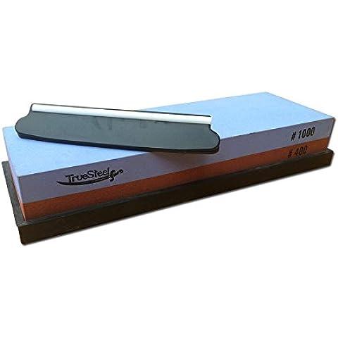 Whetstone piedra de afilar 400/1000Grano Completo con la Guía de ángulo Bundle. Perfecto para Sharp Cuchillos de