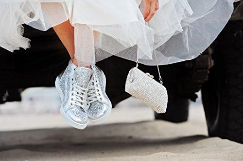 Elsa Coloured Shoes , Chaussures à lacets et coupe classique femme Argent - Argent