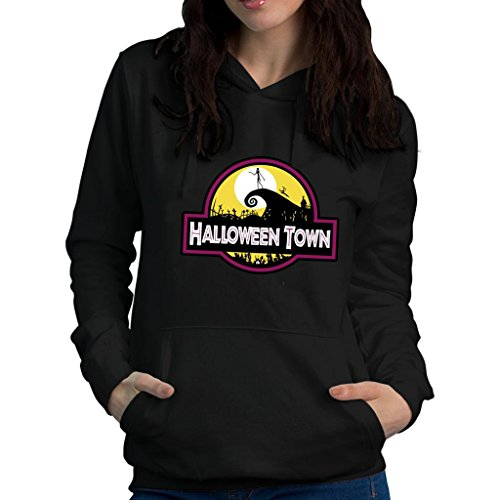 TeeTrumpet Halloween Town Nightmare Before Christmas Park Women's Hooded Sweatshirt