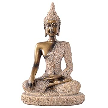 La Figurita Tonalidad De La Piedra Arenisca De Buda Joss Escultura Estatua Tallada A Mano 3