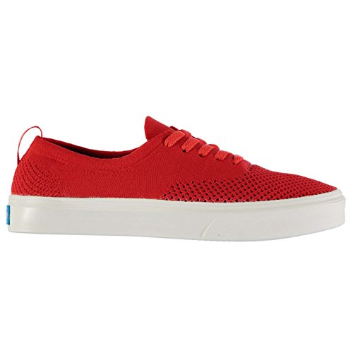 Unknown Homme The Stanley Knit Chaussures Baskets Basses Plimsoles Tennis Casual Rouge