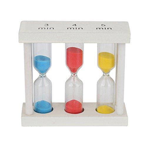 Multicolor Sablier minuteur - Wood minuterie de sable pour les enfants à la maison et à l'école, horloge de sable Sablier minuteur Lot 9.5x4.3cm 3min