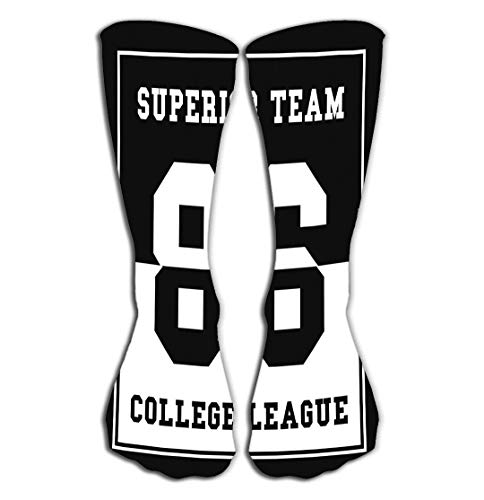 No Soy Como Tu Hohe Socken Outdoor Sports Men Women High Socks Stocking Sports College League Number Sport Typography Print Graphic Sports College League Tile Length 19.7