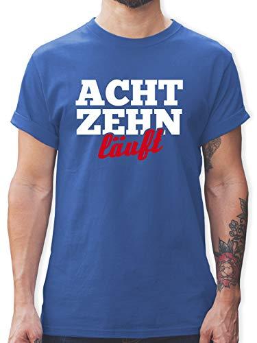 urtstag läuft - M - Royalblau - L190 - Herren T-Shirt und Männer Tshirt ()