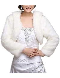 Poncho In Pelliccia Elegante Donna Moda Giacca Da Sposa Invernali Monocromo Manica  Lunga Lanoso Coat Festival d17100beff1