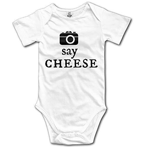 CrownLiny Camera Say Cheese Infant Boys Girls Short Sleeve Baby Onesie Bodysuits Rosa Infant Bodysuit