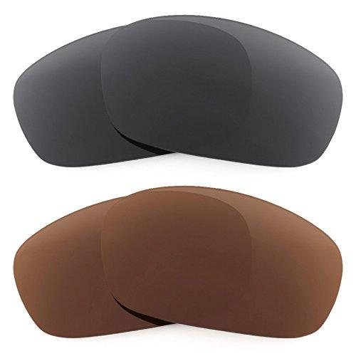 Preisvergleich Produktbild Revant Ersatzlinsen für Oakley Racing Jacket Polarisiert 2 Paar Kombipack K003