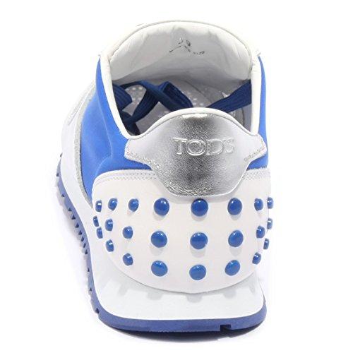 B1974 sneaker donna TOD'S SPORTIVO YO ALLACCIATA argento/blu shoe woman Argento/Blu