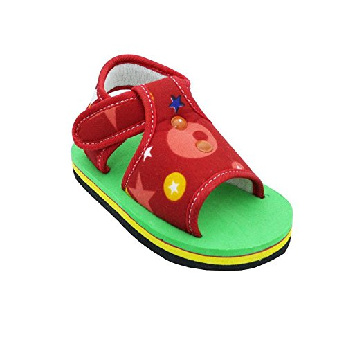 Chiu Soft Baby Sandal in Green and Red For 6-12 Months Baby
