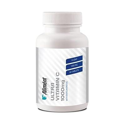 Alimént Vegan Ultra Vitamin C 1000mg - Premium High Strength for Optimum Levels - 60 Tablets (Contains Bioflavonoids) from Aliment Nutrition Ltd