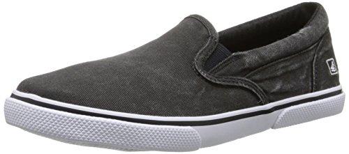 Sperry Top-Sider Halyard Slip On Sneaker (Little Kid/Big Kid),Black Salt Water,13.5 M US Little Kid