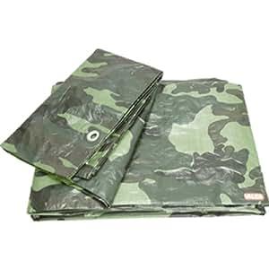 Valex - Bache Impermeable 2X3M Motif Camouflage - 100Gr/M2 - Avec Oeillets