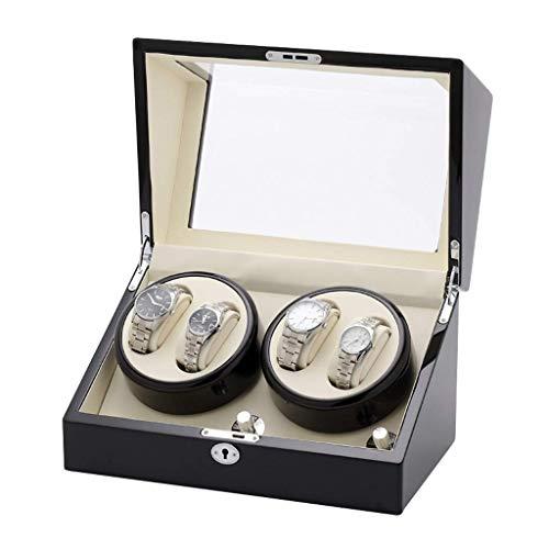 GFF Automatischer Uhrenbeweger Mechanischer Uhrenbeweger, mit leisem Motor Klavierlack Aufbewahrungsbox für 10 Uhren