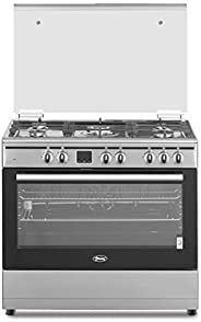 Terim 90X60 Combination Cooker, 5 gas burners, Stainless Steel, TERGE96ST, 1 Year Warranty