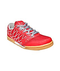 ZIGARO UNISEX Z501 BADMINTON SHOE (6, RED)