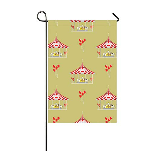 JOCHUAN Home Dekorative Outdoor Double Sided Circus Show Unterhaltungszelt Festzelt Outdoor Garten Flagge, Haus Hof Flagge, Garten Hof Dekorationen, saisonale Willkommen Outdoor Flagge