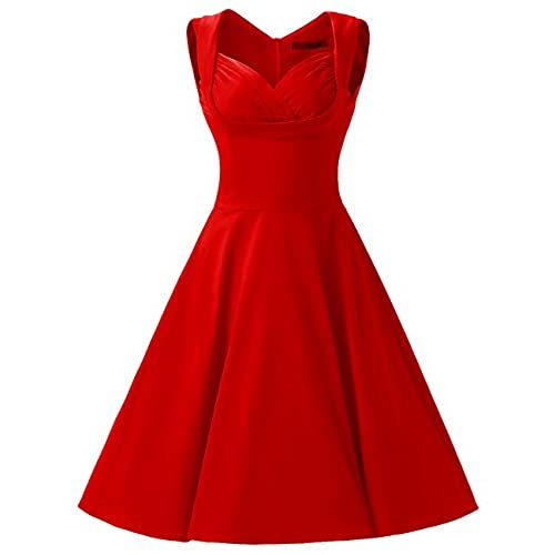 Red 50s dresses