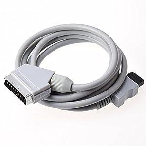 Gam3Gear Echt RGB Scart-Kabel-Blei-Schnur für Nintendo Wii PAL