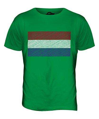 CandyMix Niederlande Kritzelte Flagge Herren T Shirt Grün