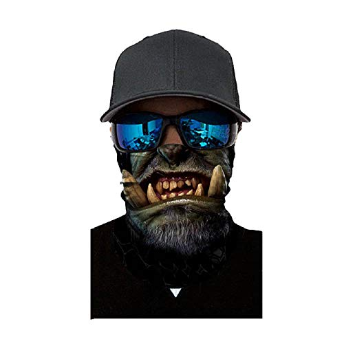 Face Shield Sturmhaube ,viele verschiedene Designs* Multiunktionstuch Maske Fishing Totenkopf Schal Skull Bandana Gesichtsmaske Halstuch Ski Motorrad Paintball Face Shields Maske (A)