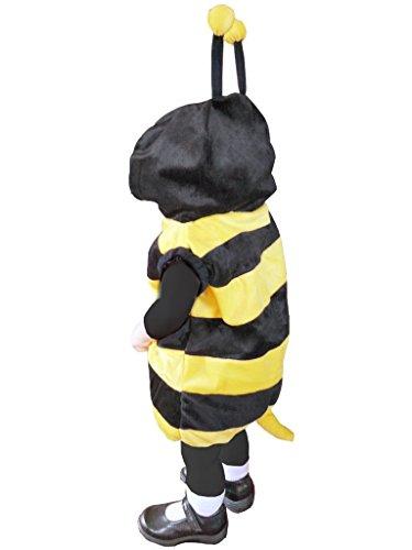 Bienen-Kostüm, J14 Gr. 98-104, für Kinder, Bienen-Kostüme Biene Bienchen für Fasching Karneval Fasnacht, Klein-Kinder Karnevalskostüme, Kinder-Faschingskostüme, Geburtstags-Geschenk  (Party Animal Kostüm Gruppe)