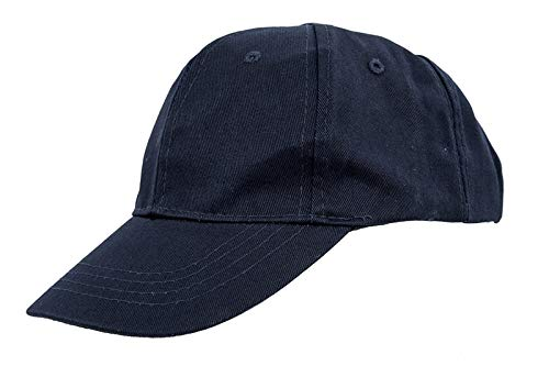 AST Works Kids Plain Baseball Cap Girls Boys Junior Childrens Hat Summer-Navy Blue C2O5