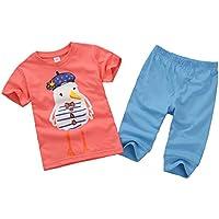 Vine Bebé Camisetas de Manga Corta y Pantalones Niños Verano Trajes Niñas Ropas