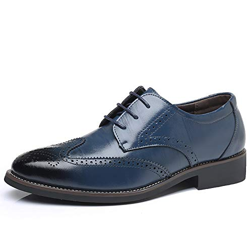 reputable site 39c24 12715 Men s Modern Dress Shoes Formal Wingtip Lace up Oxford Shoes(blue43)