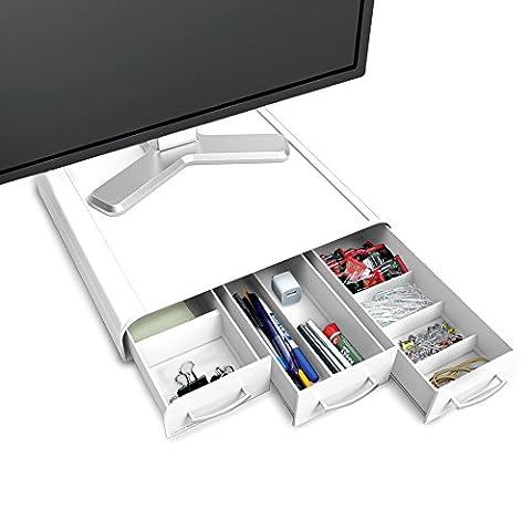 Mind Reader 'Perch' PC Laptop IMac Computer Monitor Stand und Schreibtisch Organizer
