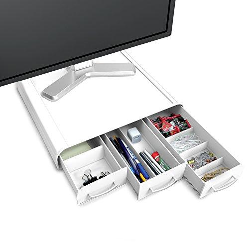 Mind Reader Ständer und Schreibtisch-Organizer für PC/Laptop weiß